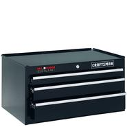 "Craftsman 26"" Wide 3-Drawer Ball-Bearing GRIPLATCH® Middle Chest - Black at Craftsman.com"