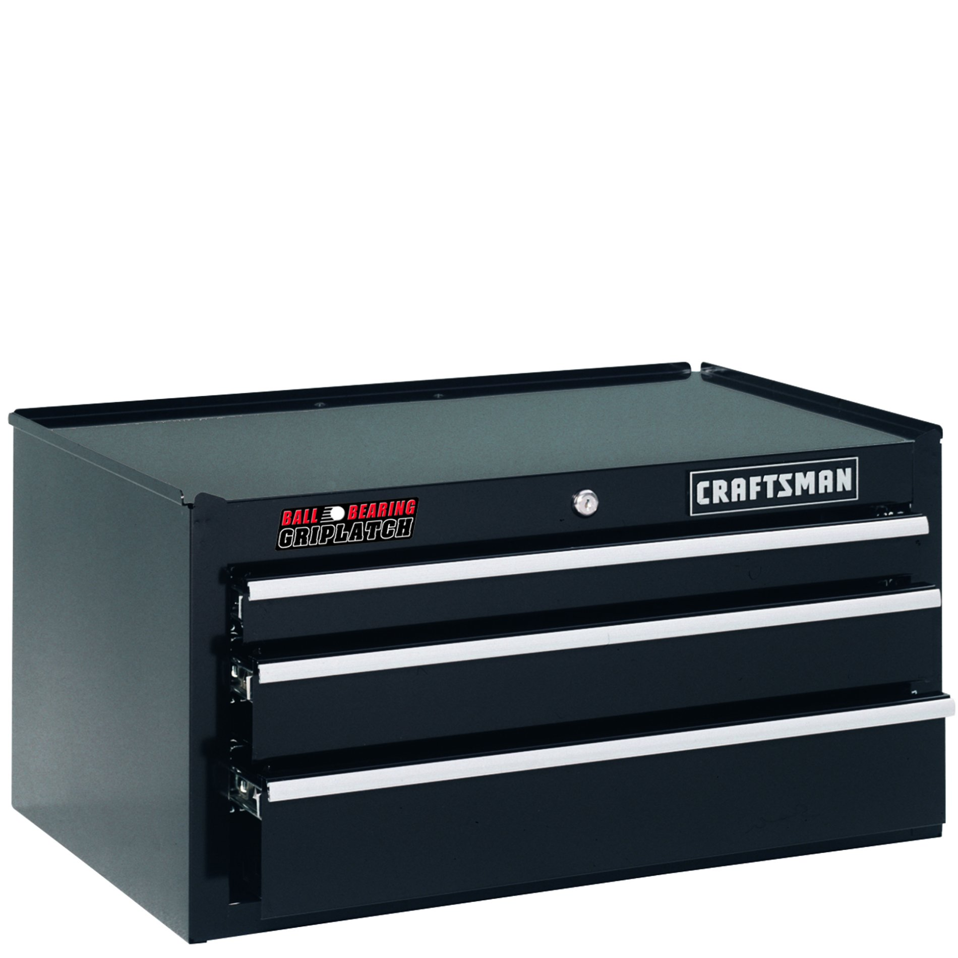 "Craftsman 26"""" Wide 3-Drawer Ball-Bearing GRIPLATCH Middle Chest - Black"