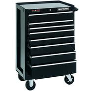 "Craftsman 26"" Wide 8-Drawer Ball-Bearing GRIPLATCH® Bottom Chest - Black at Sears.com"