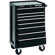 "Craftsman 26"" Wide 8-Drawer Ball-Bearing GRIPLATCH® Bottom Chest - Black at Craftsman.com"