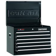 "Craftsman 26"" Wide 6-Drawer Ball-Bearing GRIPLATCH® Top Chest - Black at Sears.com"