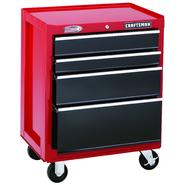 "Craftsman 26"" Wide 4-Drawer Ball-Bearing Bottom Chest - Red/Black at Sears.com"
