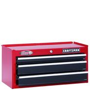 "Craftsman 26"" Wide 3-Drawer Ball-Bearing Middle Chest - Red/Black at Craftsman.com"