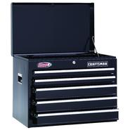 "Craftsman 26"" Wide 5-Drawer Ball-Bearing Top Chest - Black at Craftsman.com"
