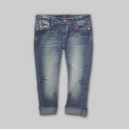 Southpole Junior's Bling Capris - Distressed Denim at Sears.com