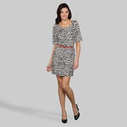 Tiana B Women's Belted Dress - Animal Print at Kmart.com