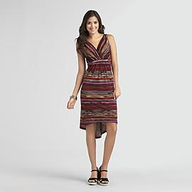 Metaphor Women's High-Low Maxi Dress - Stripes at Sears.com