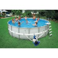 Intex 18ft x 52in Ultra-Frame Pool Package with 1,600 gph Sand Filter Pump at Kmart.com