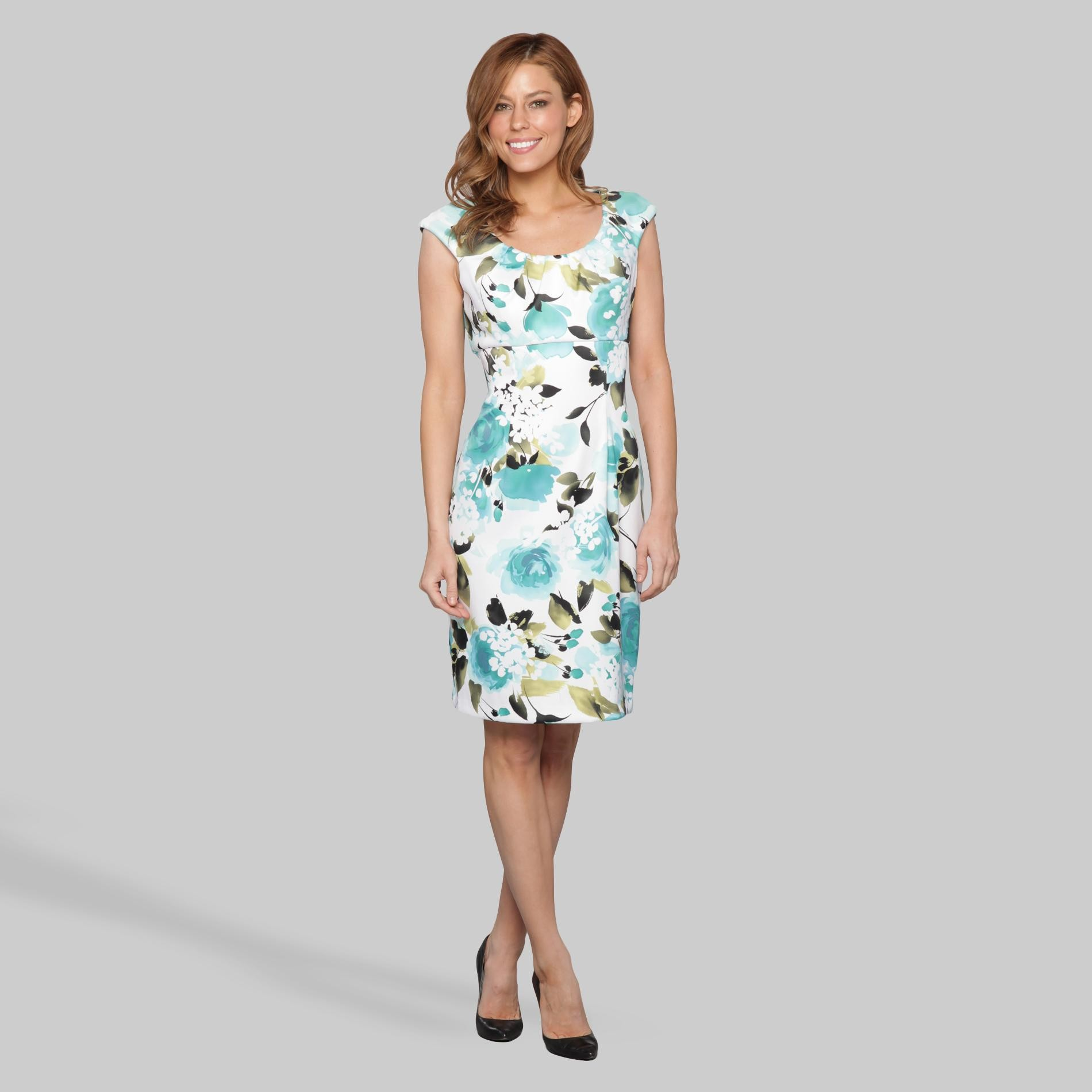 Women's Scoop Neck Dress - Floral at Sears.com