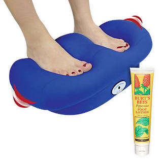 -Remedy Vibrating Foot Massager with Micro Beads & Peppermint Foot Lotion Bundle