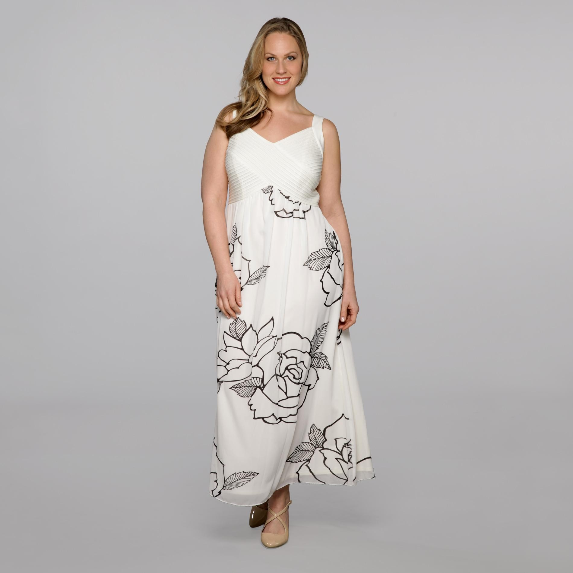Robbie Bee Women's Plus Surplice Maxi Dress at Sears.com