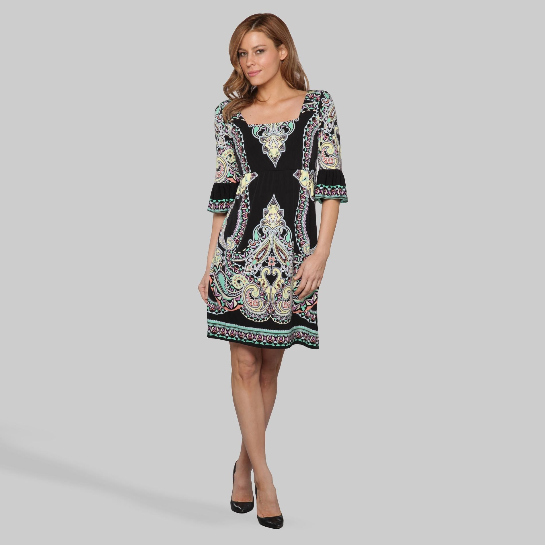 Women's A-Line Dress - Scarf Print at Sears.com