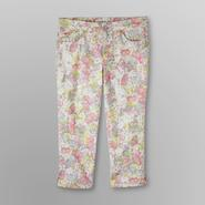 Jaclyn Smith Women's Stretch Capris - Floral at Kmart.com