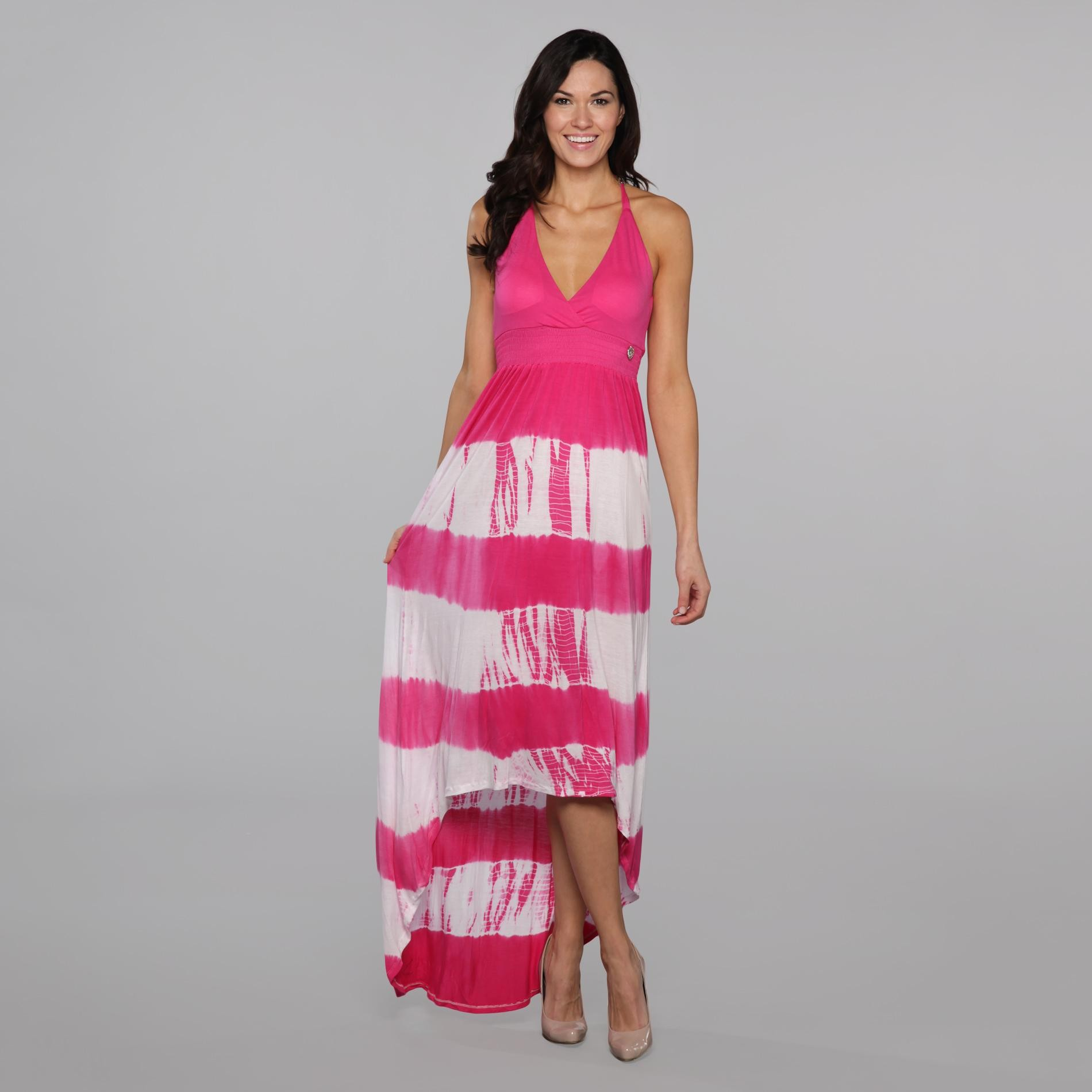 Southpole Junior's High-Low Maxi Dress - Striped at Sears.com