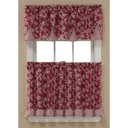 Sandra by Sandra Lee Dora Tier Curtains - Brick at Kmart.com