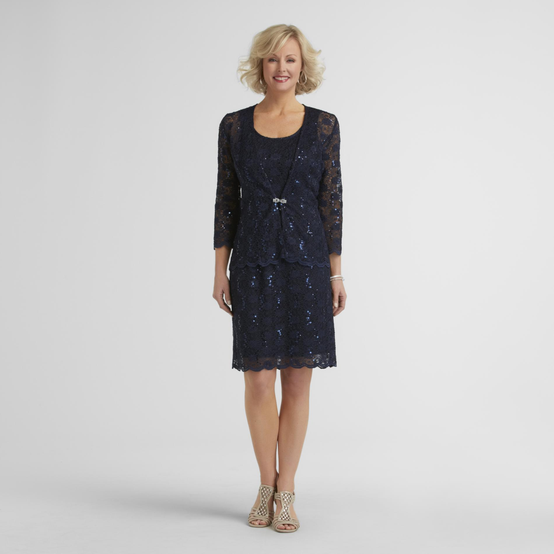 R & M Richards Women's Lace Dress & Jacket - Sequined at Sears.com