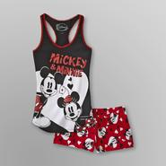 Disney Women's Graphic Pajama Shorts Set  - Mickey & Minnie Mouse at Sears.com