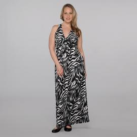 Rhapsody Women's Plus Maxi Dress - Zebra Stripes at Sears.com