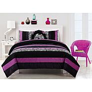 Bed Ink Posh Purple Comforter With 2 Shams at Sears.com