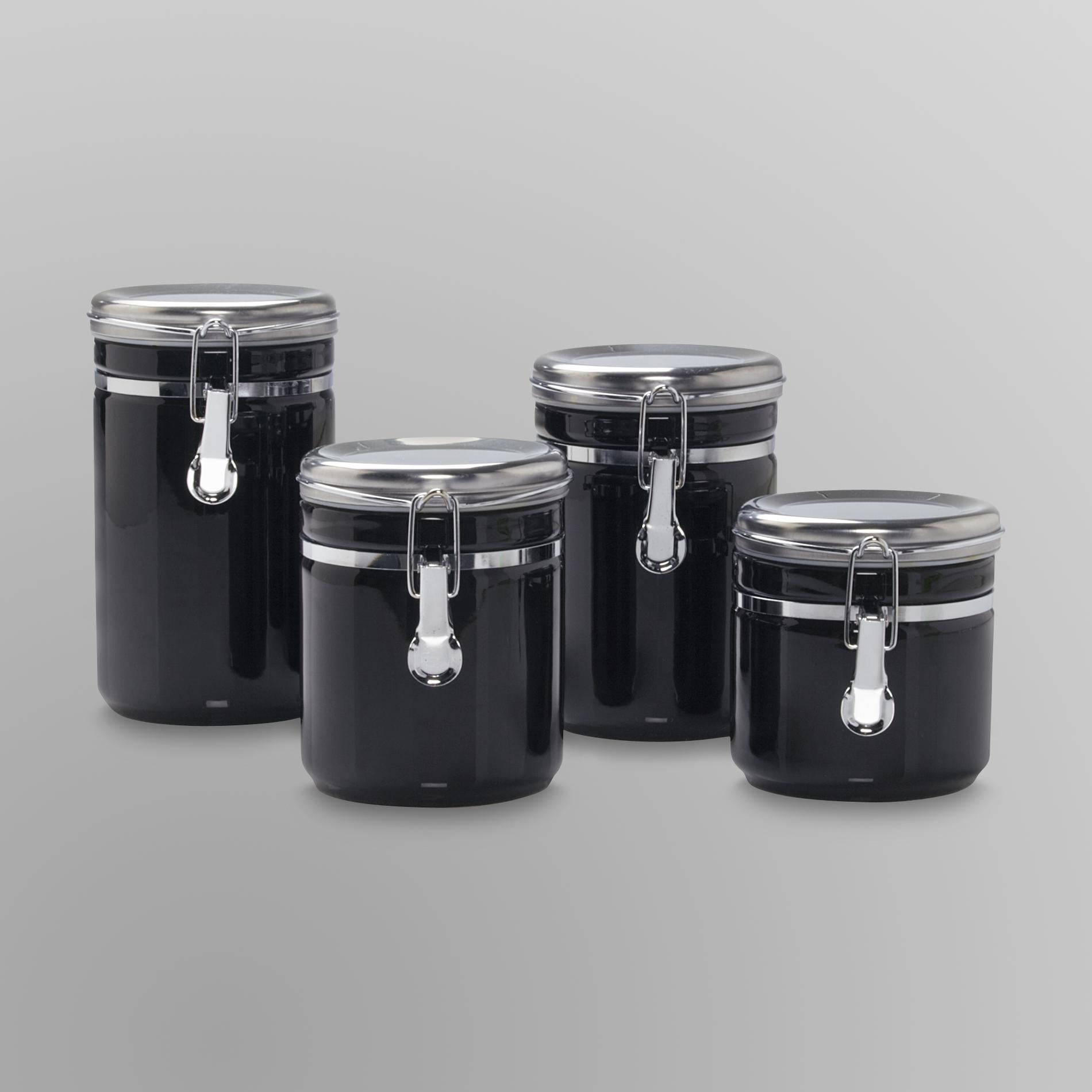 Anchor Hocking 4-Piece Ceramic Canister Set PartNumber: 011W004977869001P KsnValue: 4977869 MfgPartNumber: 03923EH13