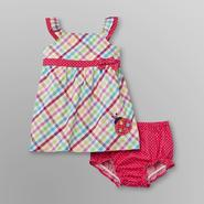 Little Wonders Infant Girl's Sundress Set - Plaid/Polka Dot at Sears.com