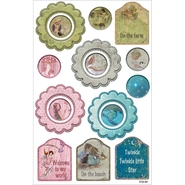 "Little Peeps Cardstock Stickers 8.25""X5.25"" Flowers, Rounds & Tags, Fits DC56016 at Kmart.com"