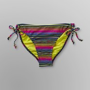 Joe Boxer Junior's Side Tie Bikini Bottoms - Neon Striped at Kmart.com