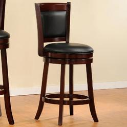 Oxford Creek Contemporary 24 in. H Swivel Pub Chair in Cherry at Kmart.com