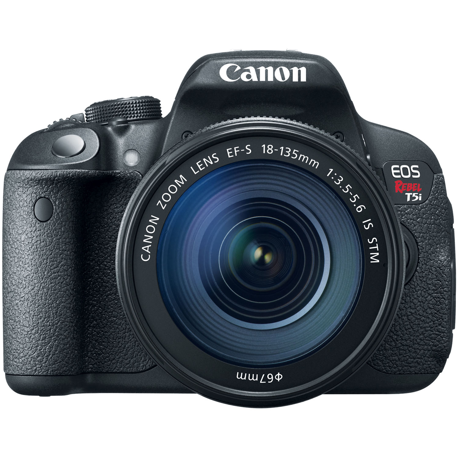 Canon EOS Rebel T5i 18MP Digital SLR Camera Body and EF-S 18-135mm f/3.5-5.6 IS STM Lens Black 14.9 x 22.3mm
