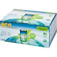 Eco Alkalines Eco Alkaline Eco Responsible Batteries - D Cell 12 Pack at Kmart.com