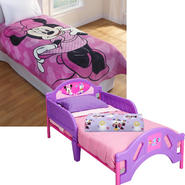 Minnie Mouse Toddler Bed with Sheet Set & Blanket Bundle at Kmart.com