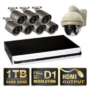 Q-See QS558-893-1 8 Channel Full D1 DVR, 7 High-Resolution Cameras, 1 Pan-Tilt Camera, and Pre-installed 1TB Hard Drive at Sears.com