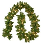 General Foam Pre Lit Portland Branch Garland W/100 Clear Lights at Kmart.com