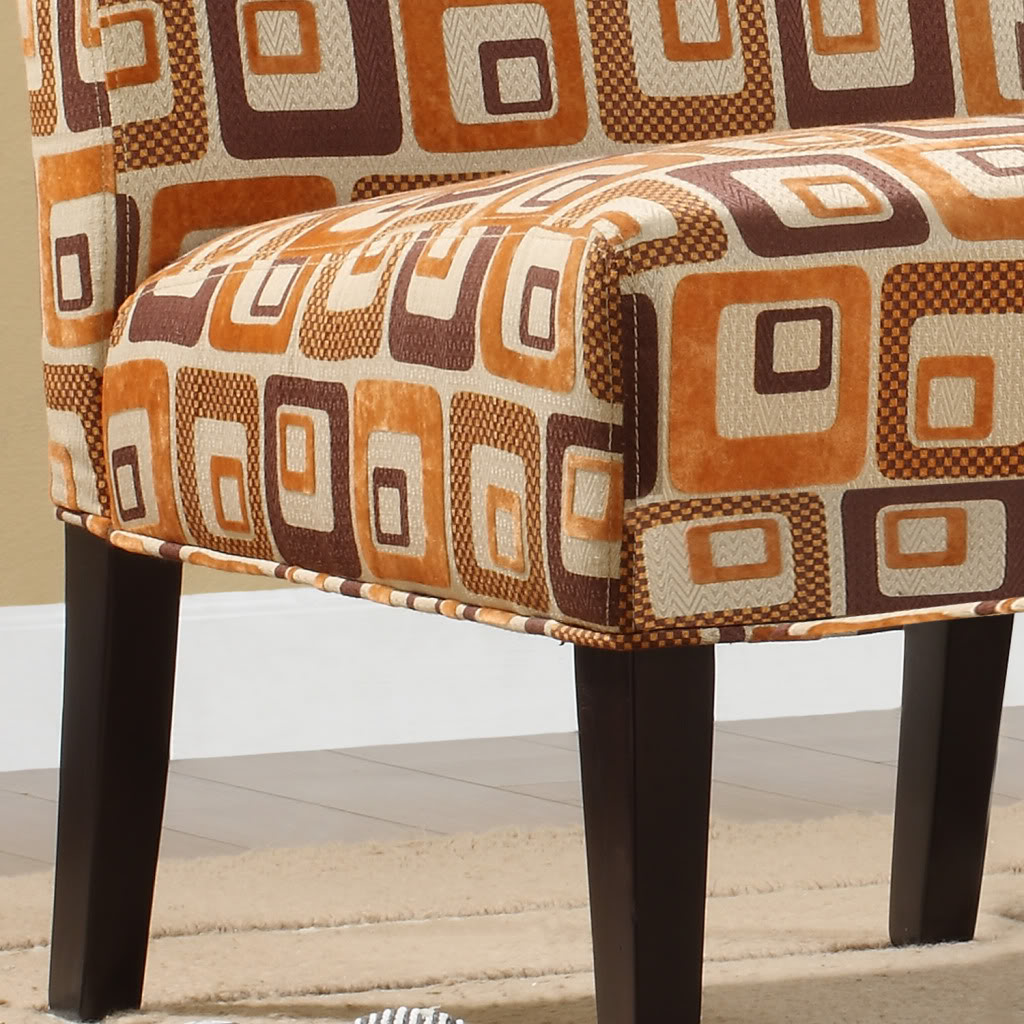Orange Cubes Fabric Lounger chair                                                                                                at mygofer.com