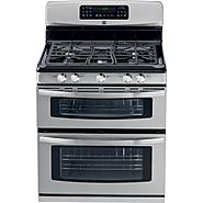 "Kenmore 30"" Double-Oven Freestanding Gas Range - Stainless Steel w/ Black at Kmart.com"