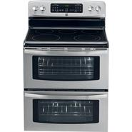 "Kenmore 30"" Double-Oven Electric Freestanding Range w/ Convection - Stainless Steel at Sears.com"