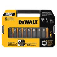 DeWalt 10 Piece Impact Socket Set at Craftsman.com