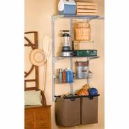 Storability 33 In. L x 63 In. H Utility Room Wall Mount Storage System with (2) Storage Bags, (2) Wire Shelves, (2) Wire Baskets & Hardware at Kmart.com