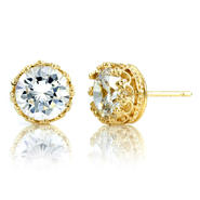Emitations Kristine's 4 TCW Crown Setting CZ Stud Earrings - Gold Vermeil at Kmart.com