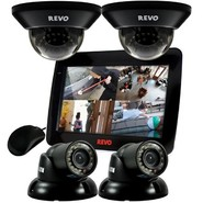 Revo 4 Ch. 1TB DVR Surveillance System with 10.5'' Built-in Monitor & 4 700TVL Cameras at Kmart.com
