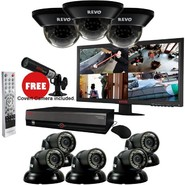 "Revo 16 Ch. 3TB DVR Surveillance System with 8 700TVL Cameras, 23"" Monitor & Free Bonus Covert Camera at Kmart.com"