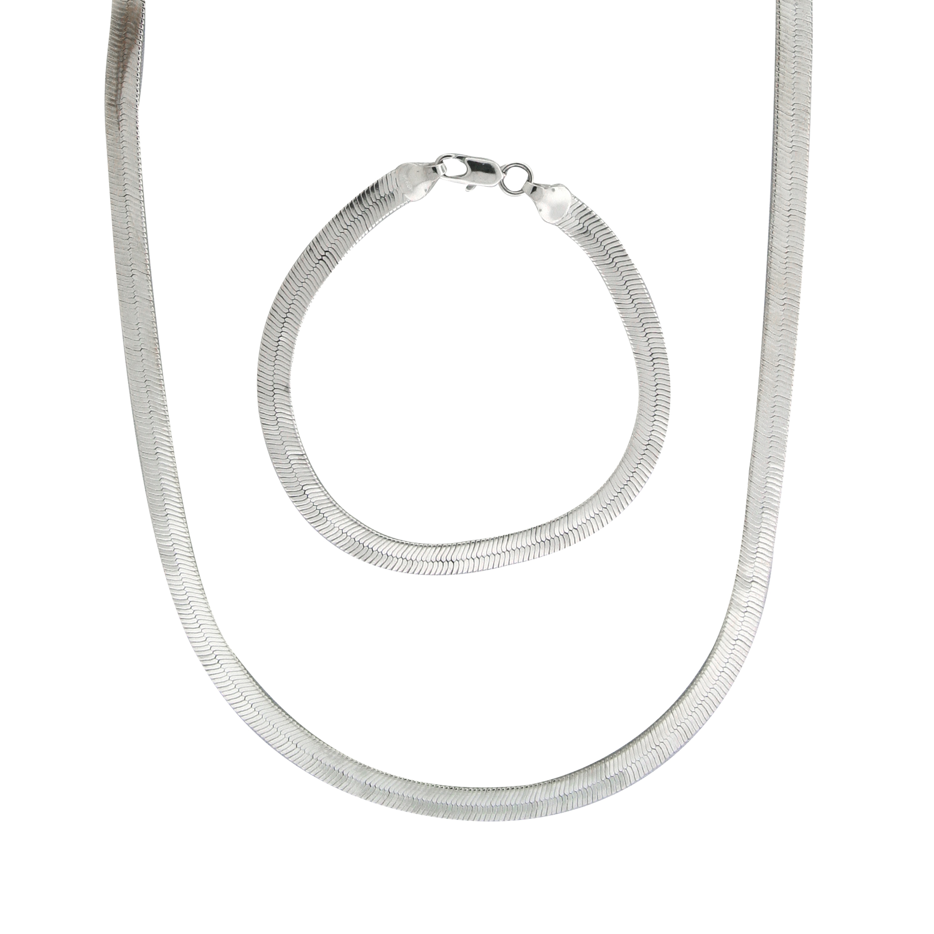 Silver Plated Superflex Necklace and Bracelet
