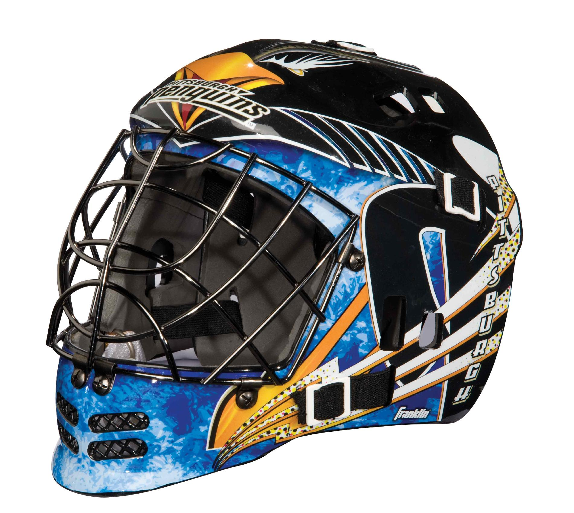 Franklin Sports NHL® Team SX Comp Goalie Mask 100 Goalie Face Mask (Penguins)