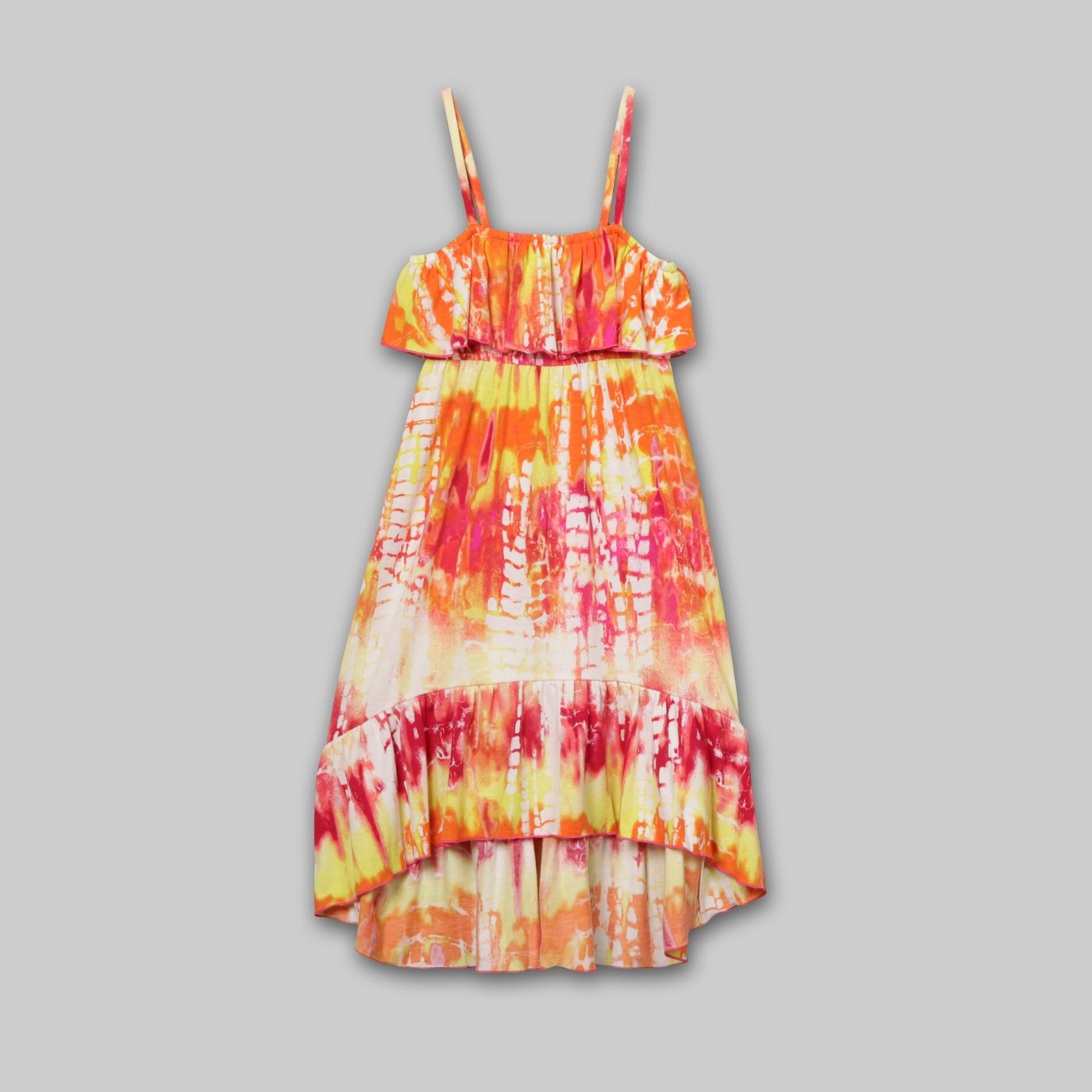Route 66  Girl's Maxi Dress - Tie-Dye