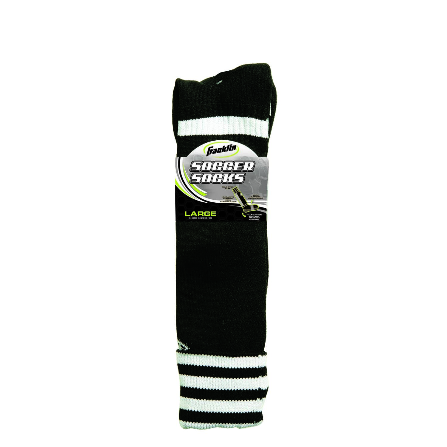 ACD Soccer Socks White Large Adult 6 Pack
