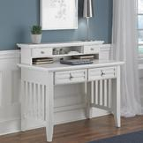 Home Styles Arts & Crafts White Student Desk & Hutch at mygofer.com