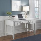 Home Styles Arts & Crafts White Executive Desk at mygofer.com