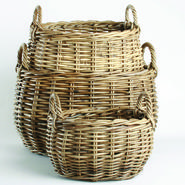 Trade Associates Group Ltd RATTAN STORAGE BASKETS SET of 3 at Kmart.com