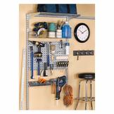 Storability 33 In. L x 63 In. H Garage Wall Mount Storage System with LocBoard, LocHook Asst, Wire Shelf, Wire Basket & Mounting Hardware at mygofer.com