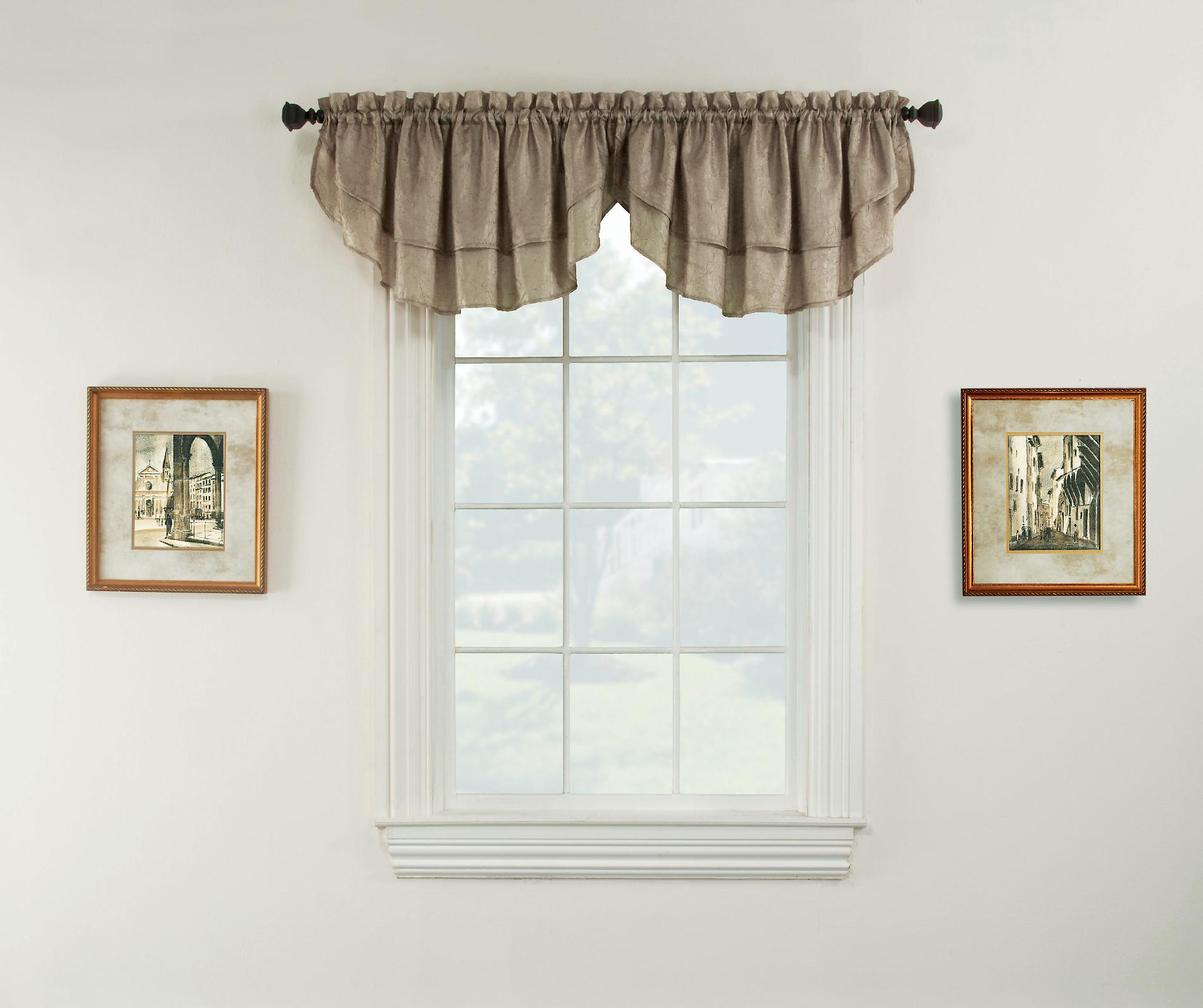 Essential home luxury window valance taupe home home Luxury window treatments